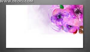 hd ink flower banner background design psd template deoci