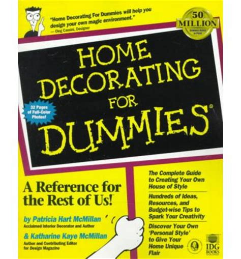 Home Design For Dummies | home decorating for dummies mcmillian 9780764551079