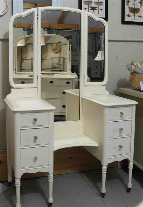 vanity desk with mirror vintage drop well vanity a 1930s dressing painted