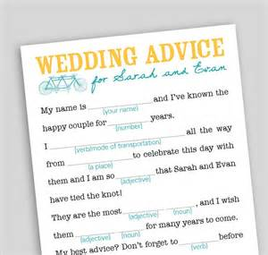 printable wedding mad libs template diy printable wedding mad libs wedding advice by swooncreative