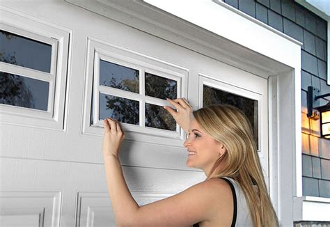replacing clopay garage door window glass