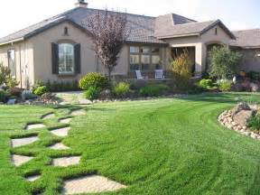 home landscape green landscape ideas for ranch style homes by the exterior area