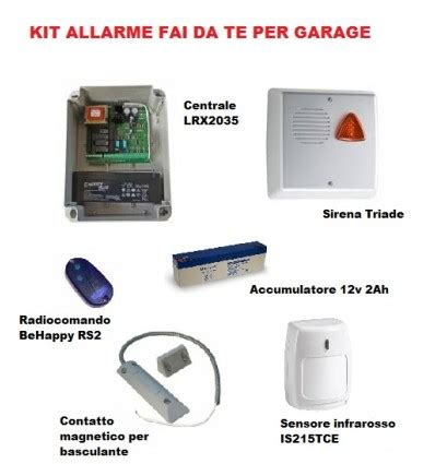 antifurto box auto kit allarme per garage box auto sk elektronica