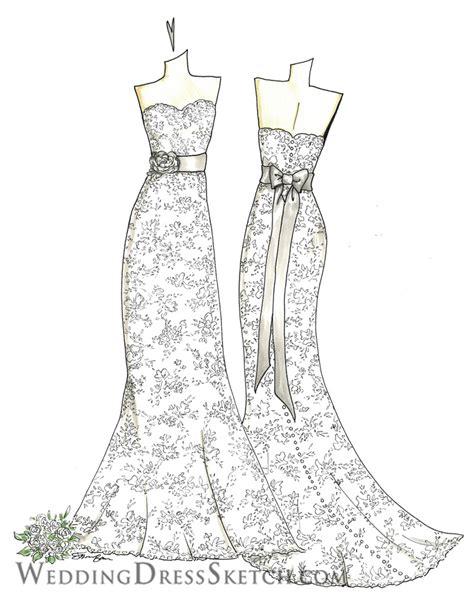 wedding dress art gallery wedding dress sketch custom