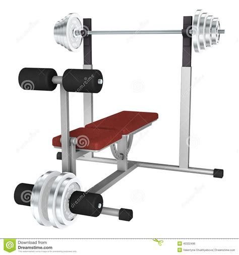 bench power power bench stock illustration image 40322496