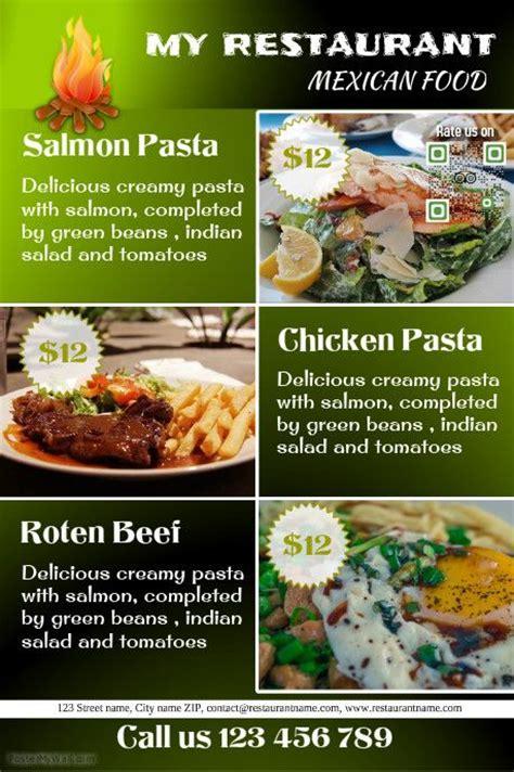 restaurant flyers templates 101 best images about restaurant flyers diy on