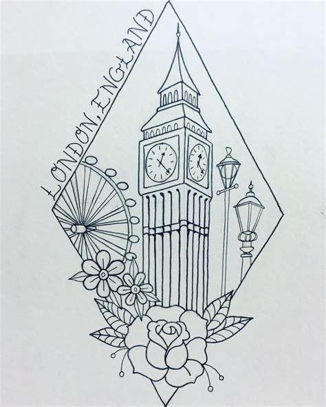 london tattoo design travel big ben my things