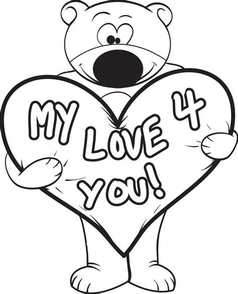 i love you bear coloring pages pics for gt i love you drawing ideas