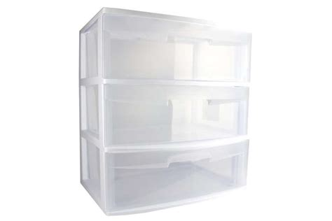 Sterilite 29308001 3 Drawer Wide Cart by Sterilite 3 Drawer Wide Storage Container 29308001