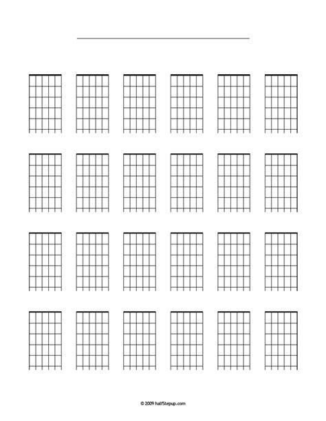 printable blank ukulele chord chart hsu chord blank music pinterest guitar chords and
