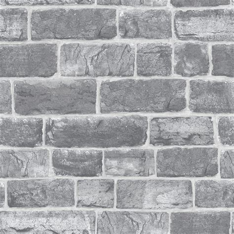 grey silver brick wall quality feature designer
