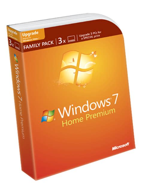 windows 7 home premium upgrade family pack