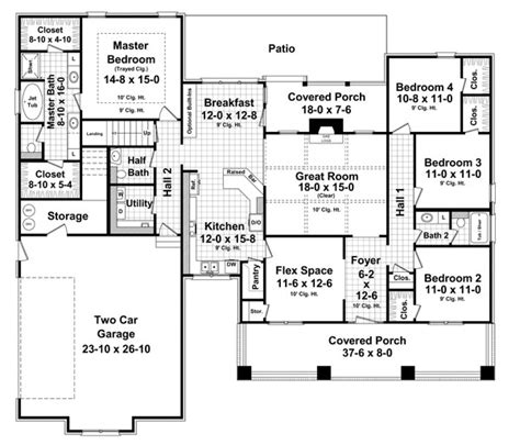 bhg floor plans the house designers the stonewood court