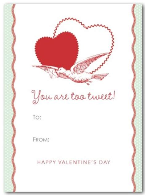 Valentines Cards Template Word by Printable Bird Of Card Template