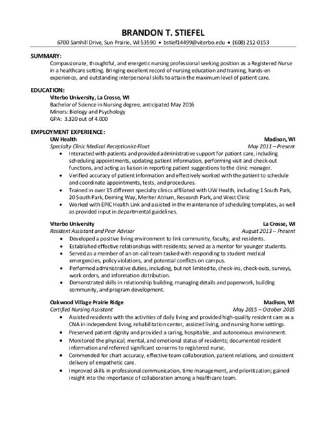 Professional Nursing Resume by Professional Nursing Resume Brandon Stiefel