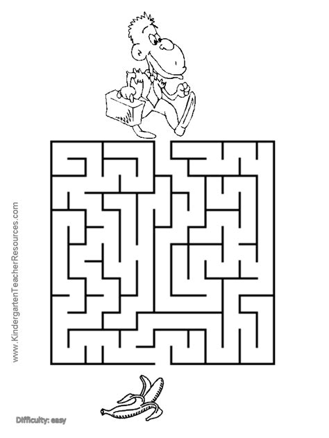 printable monkey maze maze and monkey on pinterest