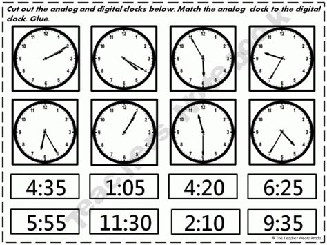 clock worksheets cut and paste 1000 images about cut and paste on pinterest