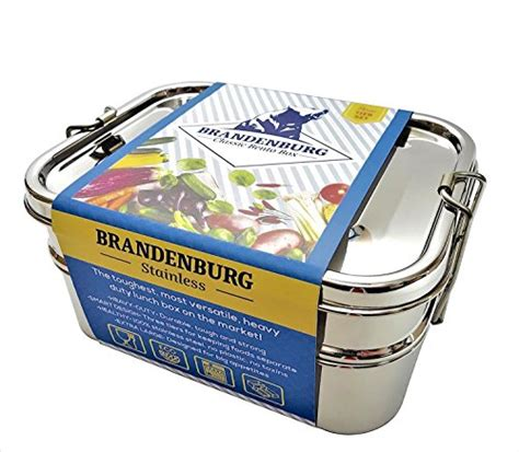 Eco Lunch Box Stainless Steel Rantang 1 Susun 2 brandenburg classic stainless steel bento box eco friendly lunch box 3 in 1 food container