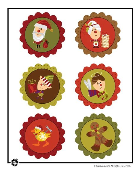 cute printable christmas decorations adorable tags or cupcake toppers free christmas