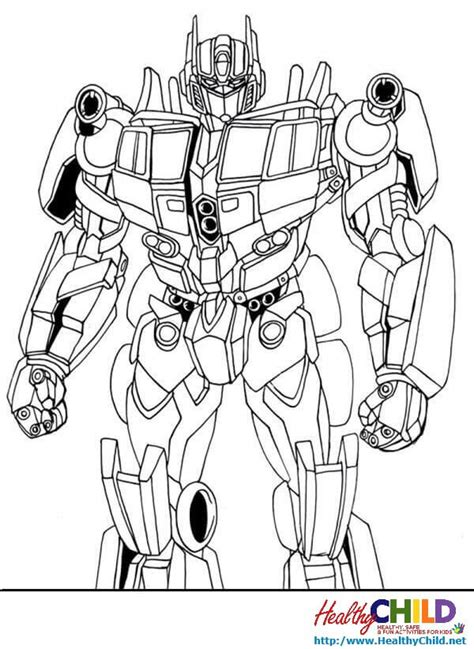 Optimus Prime Coloring Page by Transformers Optimus Prime Transformers Coloring Pages