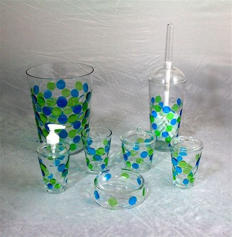 fish designed clear acrylic bathroom accessories set buy