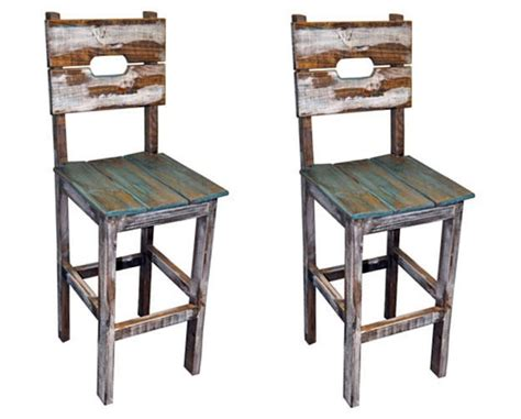 Rustic Bar Chairs qty 2 30 quot slatted wood bar stools real wood rustic western
