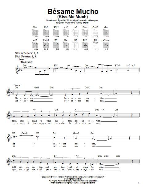 bsame mucho besame mucho kiss me much sheet music direct