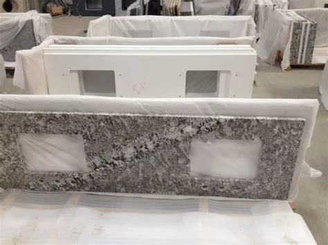 prefab bathroom countertops double undermount sink granite prefab bathroom countertop