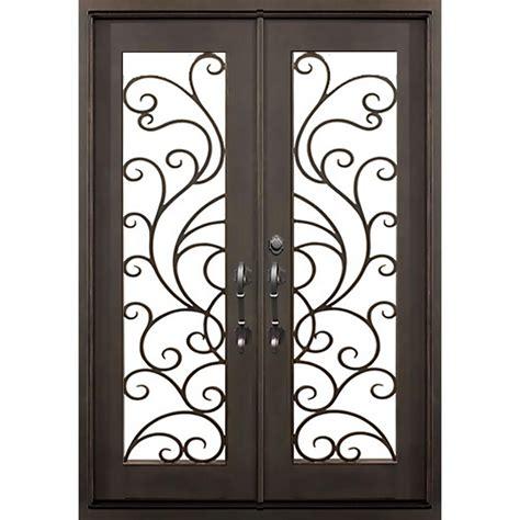 home depot wrought iron paint florida iron doors 72 in x 82 in islamorada bronze
