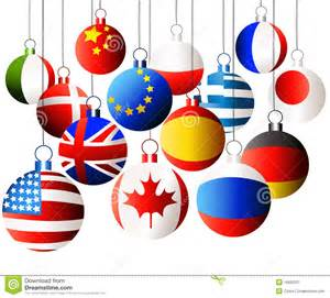 international christmas balls stock image image 16682531