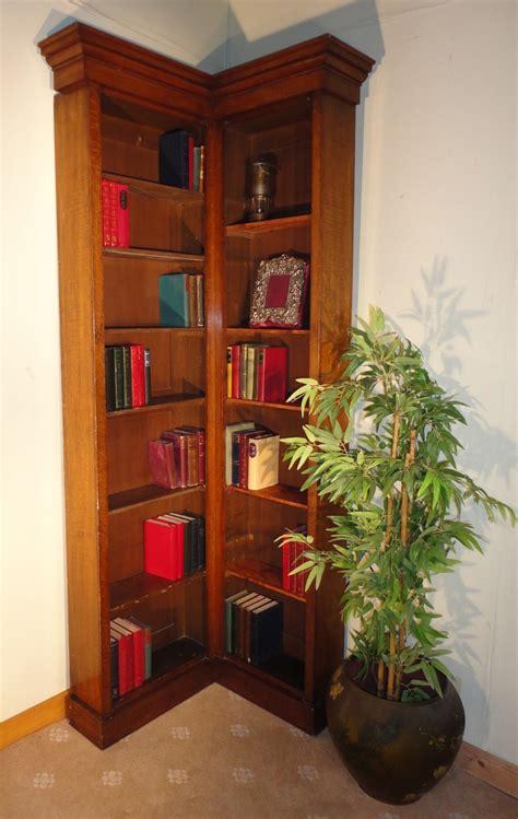 Oak Corner Bookcase Oak Narrow Corner Bookcase 242172 Sellingantiques Co Uk