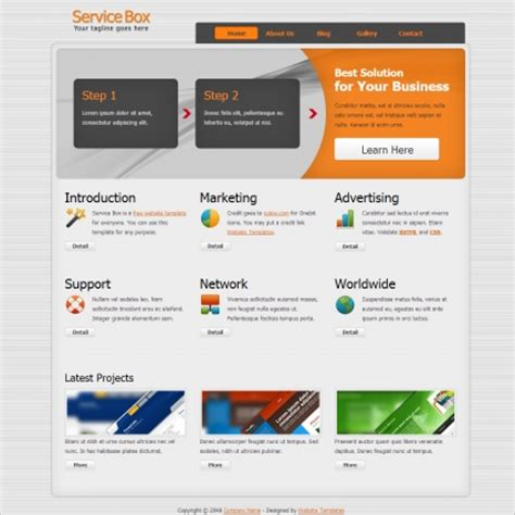 Service Box Free Website Templates In Css Html Js Format For Free Subscription Service Website Subscription Box Website Template