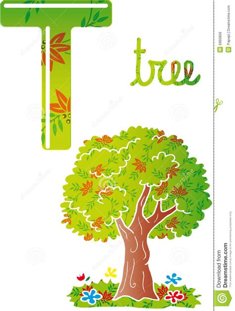 t is for tree a letter of the week preschool craft alphabet t royalty free stock image image 6960856