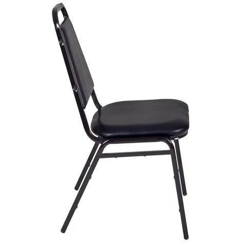 black padded stackable chairs regency padded restaurant stacker stacking chair in black