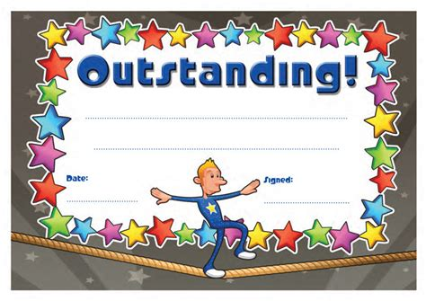 cool certificate templates school certificates outstanding 30 cool design