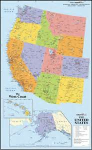 us west coast map laminatoff