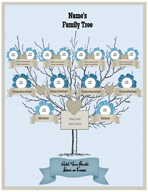 tree creator family tree template