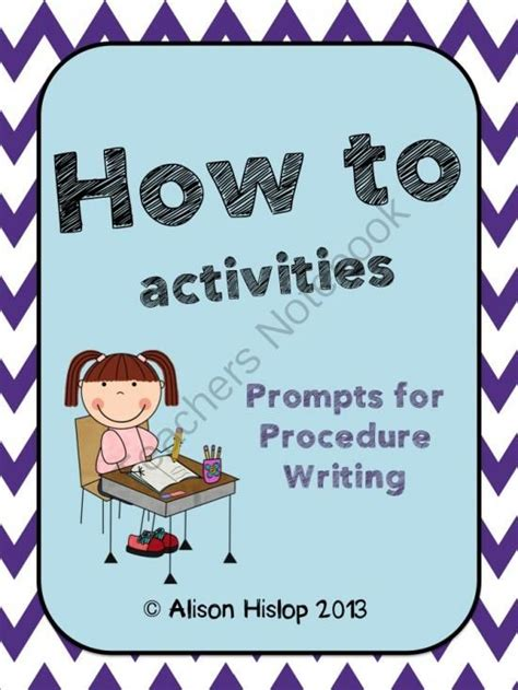 prompt cards template 24 best images about procedural text on