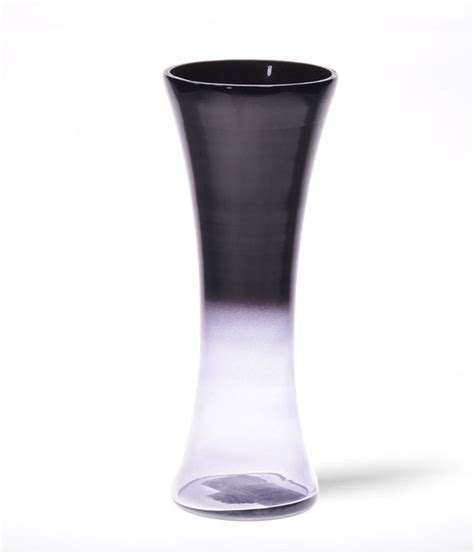 Grey Vases To Buy by Home Black And Grey Glass Vase Buy Home Black And Grey