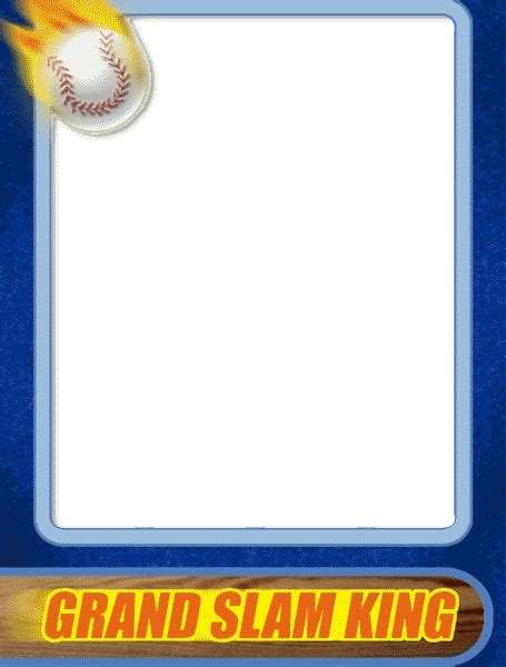 How To Make A Baseball Card Template by Baseball Card Template Peerpex