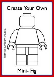 lego freebies create your own lego mini figure printable