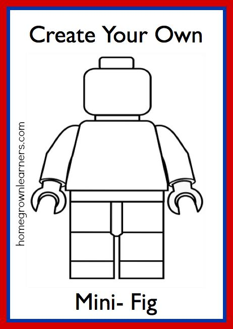 lego freebies create   lego mini figure printable
