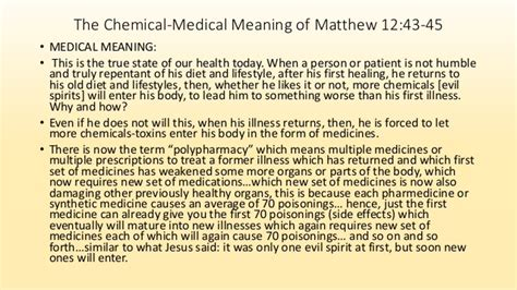 Meaning Of Mat by The Chemical And Meaning Of Matthew 12 V 43 45