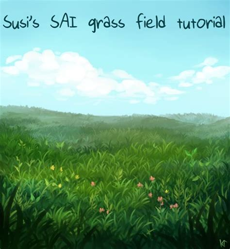 paint tool sai grass tutorial the world s catalog of ideas