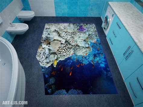 Shark Themed Bathroom by Awesome Bathroom 3d Floor Designs