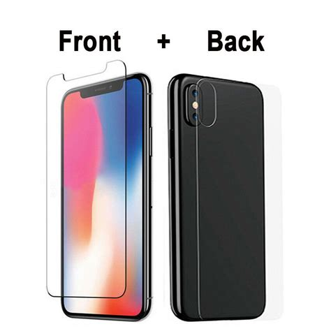 frontback tempered glass screen protector  iphone  xs