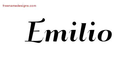 tattoo name emilio emilio archives page 2 of 2 free name designs