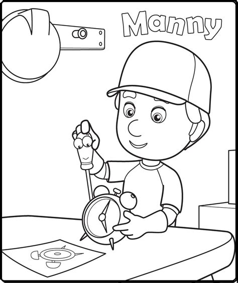 handy manny coloring pages manny coloring pages disney