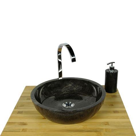 Waschbecken Mineralguss Polieren by Marmor Waschbecken Milo Schwarz Rundes Handwaschbecken