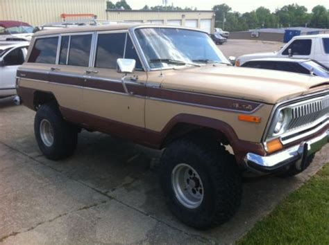 jeep wagoneer lifted purchase used 1976 jeep wagoneer lifted 4x4 rock crawler